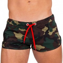 Gibson Gym Short - Green Camouflage
