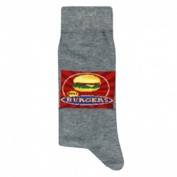 Chaussettes Fastfood - Gris