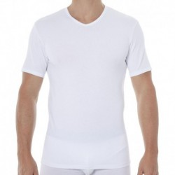 Lot de 2 T-Shirts Col V X-Temp Blanc - Noir