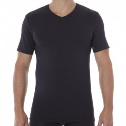 2-Pack X-Temp V-Neck T-Shirts - White - Black