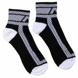 AD Fetish Fetish Ankle Socks - Black - White