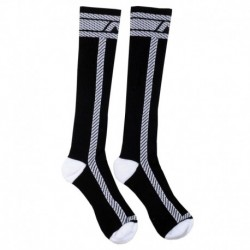 AD Fetish Fetish Long Socks - Black - White