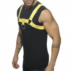Addicted Fetish Harness Tank Top - Black - Yellow