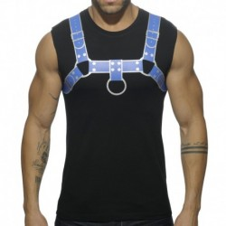 Addicted Fetish Harness Tank Top - Black - Royal