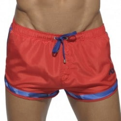 Addicted Short de Bain Rocky Camouflage Detail Rouge