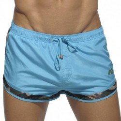 Rocky Camouflage Detail Swim Short - Turquoise