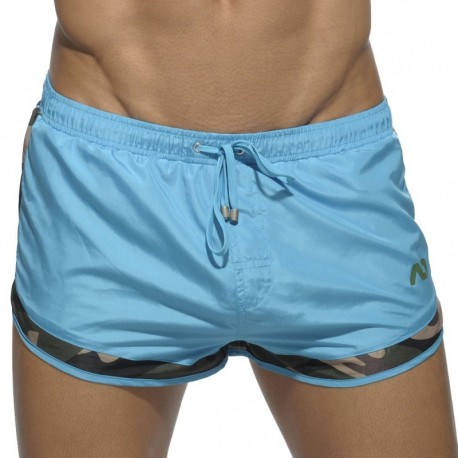 Addicted Short de Bain Rocky Camouflage Detail Turquoise