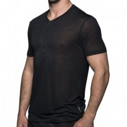 Black Collection Henley T-Shirt - Black