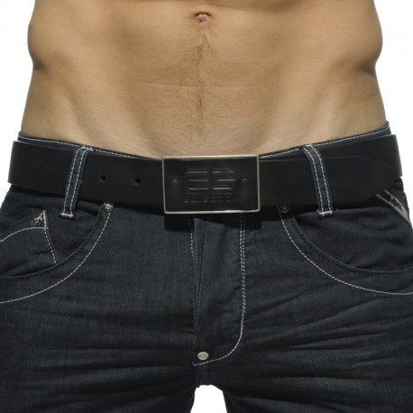 ES Collection Leather Belt - Black