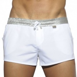 ES Collection Silver Rocky Swim Short - White