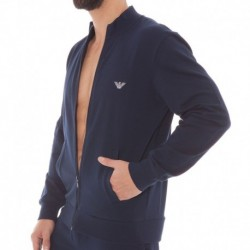Veste Basic French Terry Marine