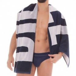 For Successful Living Beach Towel - Navy