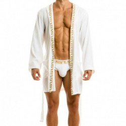 Modus Vivendi Meander Dressing Gown - White