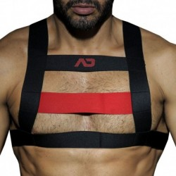 Rubber Harness - Black - Red