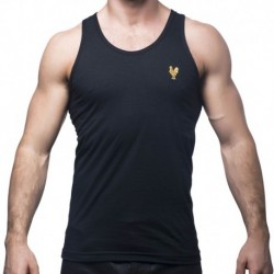 Cock Embroidered Tank Top - Black