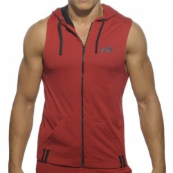 Addicted Veste Hoody Loop Mesh Rouge