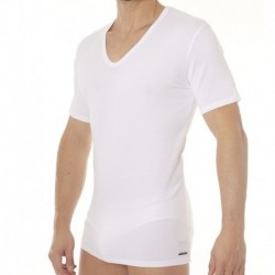 Lot de 2 T-Shirts Col V ID Lounge Blancs