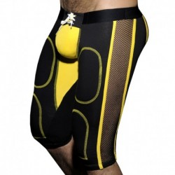 AD Fetish Bottomless Fetish Knee Pants - Black - Yellow