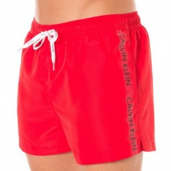 Short de Bain ID Logo Tape Rouge