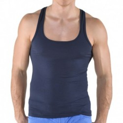 Racer Back Tank Top - Navy