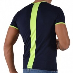 Fluo T-Shirt - Navy - Yellow