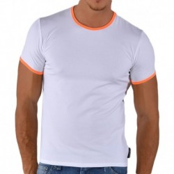 T-Shirt Fluo Blanc - Orange
