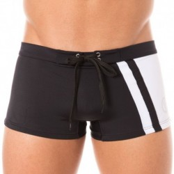 Pupino Swim Boxer - Black - White