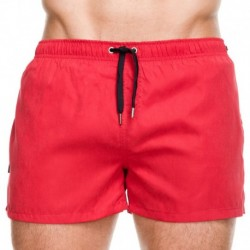 Short de Bain Grid Rouge