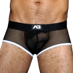 AD Fetish Shorty Mesh Fetish Noir - Blanc