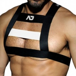 Rubber Harness - Black - White