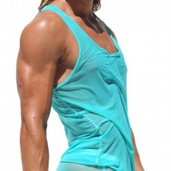 Carre Tank Top - Turquoise