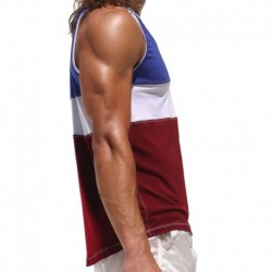 Judo Tank Top - Blue - White - Red