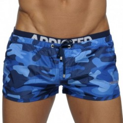 Double Waistband Swim Short - Navy Camo