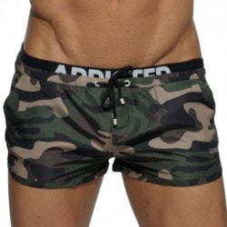 Addicted Short de Bain Double Waistband Camouflage Kaki