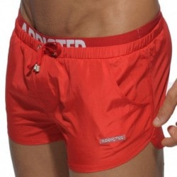 Addicted Short de Bain Double Waistband Rouge