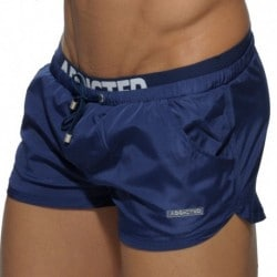 Double Waistband Swim Short - Navy