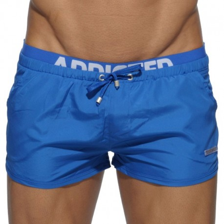 Addicted Double Waistband Swim Short - Royal