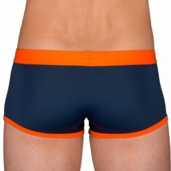 Swim Boxer - Navy - Orange