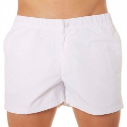 Rainbow Swim Short - White