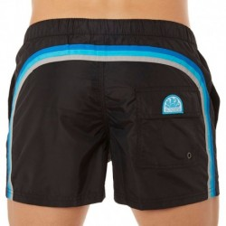 Rainbow Swim Short - Black