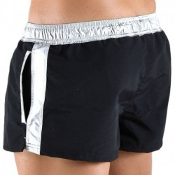 Metallic Swim Short - Black