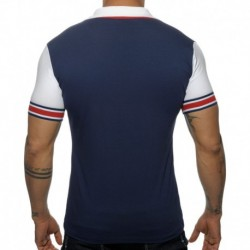 Sleeve Contrasted Polo - Navy