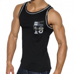 Camo Pocket Tank Top - Black