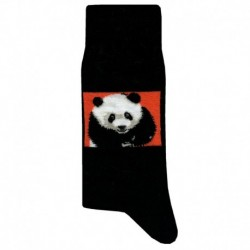 Panda Socks - Black