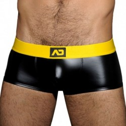 AD Fetish Fetish Rub Open Back Boxer - Black - Yellow
