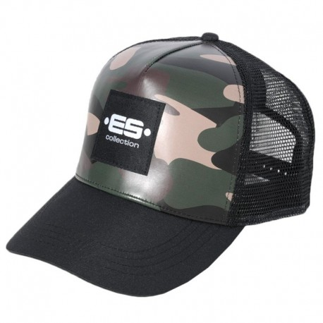 ES Collection Casquette Camouflage Kaki