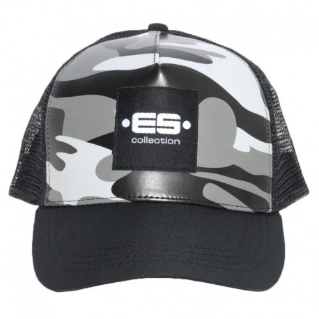 ES Collection Casquette Camouflage Grise