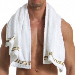 Meander Towel - White