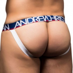 Almost Naked Nautical Jock - Blue - White Stripe