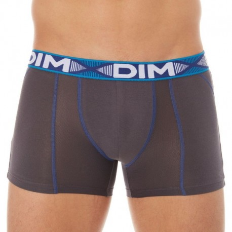 DIM Lot de 2 Boxers 3D Flex Air Blanc - Gris Plomb